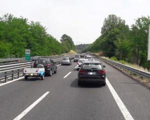 traffico a24 vicovaro