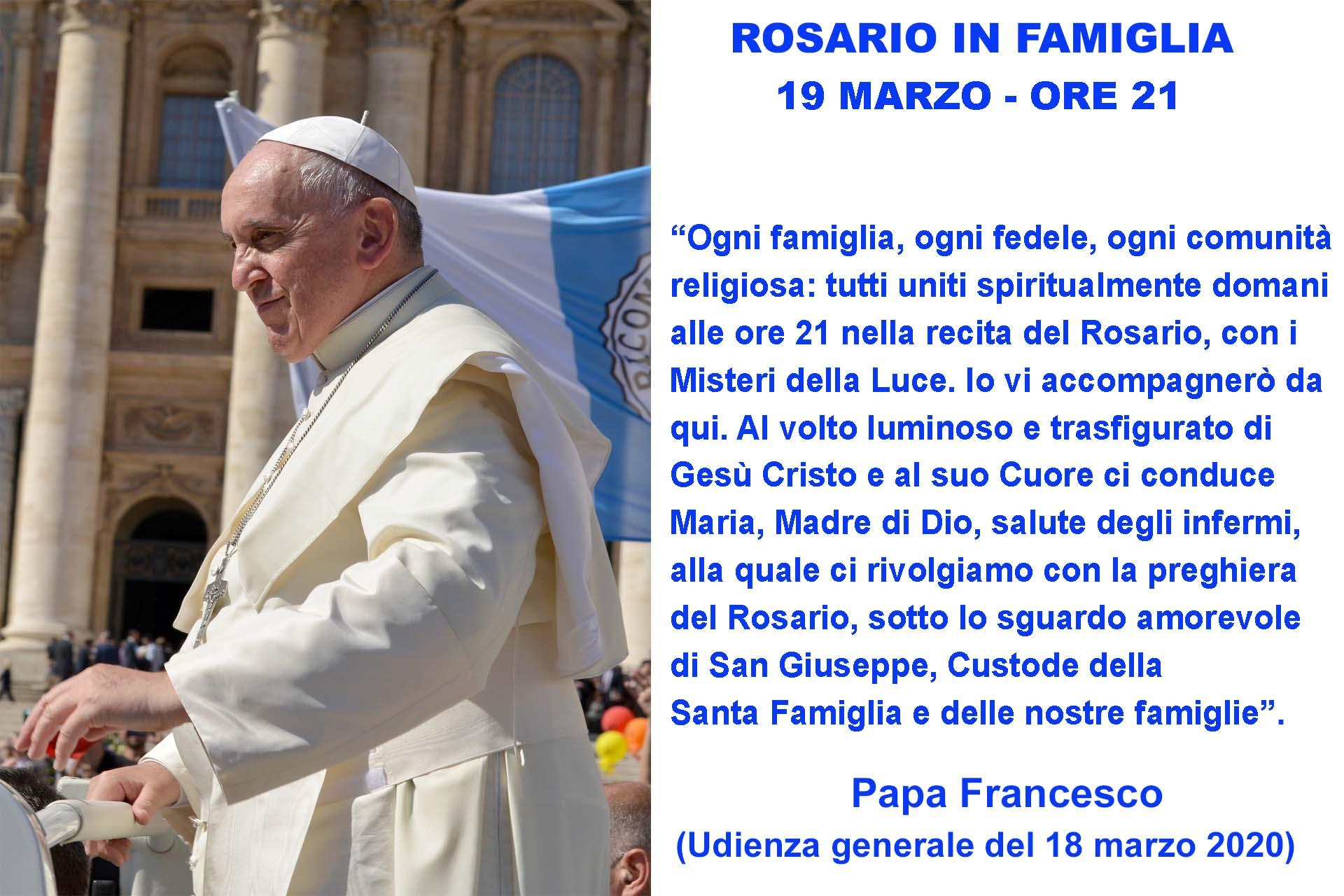Papa Francesco Tutti Uniti In Preghiera Questa Sera Alle 21 In Diretta Dal Vaticano Confinelive